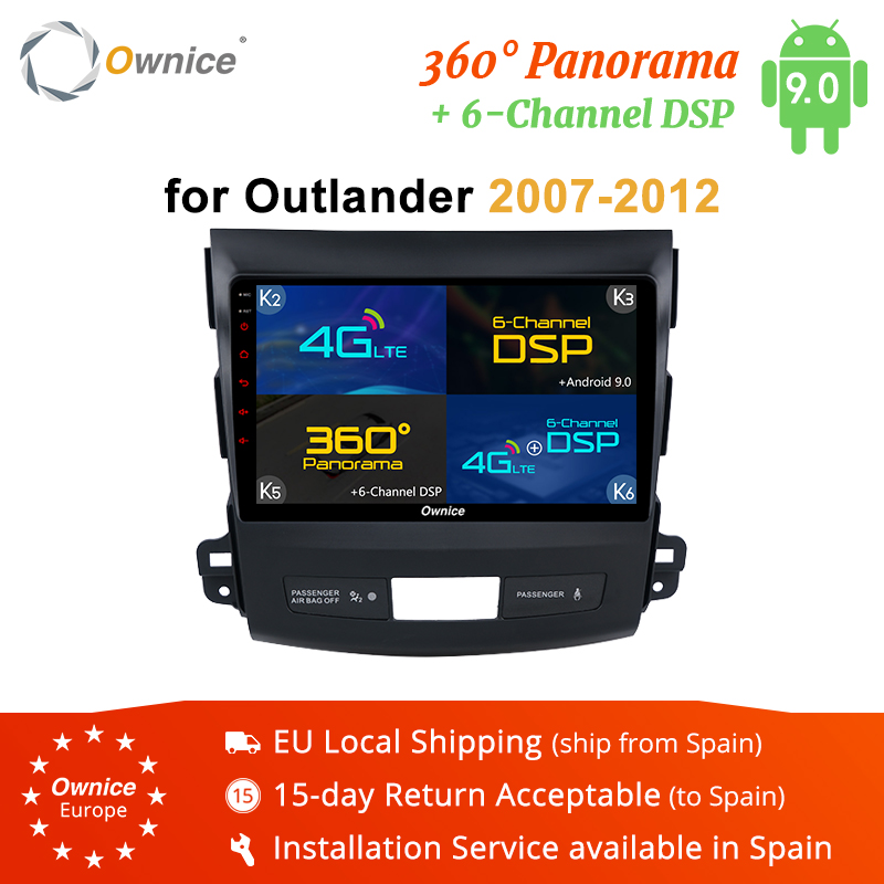 Ownice K1 K2 K3 K5 K6 Áudio Do Carro DVD Player Sistema de Navegação GPS para Mitsubishi Outlander 2007 Media Player 4G DSP 360 Panorama