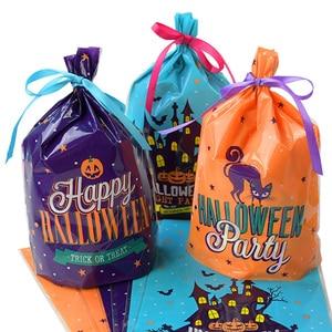 20/40 шт, сумки для конфет на Хэллоуин, милая Подарочная сумка для трюка или лечения, детский подарок, тыква, летучая мышь, конфетные коробки, ве...