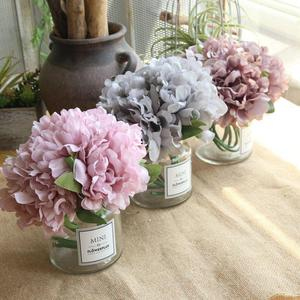 A Bunch Of 5 Peony Simulation Bouquets Wedding Bouquets Hydrangea Bouquet Fake Artificial Floral Flower Home Decoration Crafts