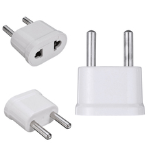 1Pc USไปยังEU Plug Power AdapterสีขาวTravel Adapter Wall Charger