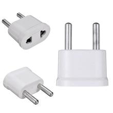 1pc US Zu EU Plug Power Adapter Weiß Travel Power Plug Adapter Konverter Ladegerät
