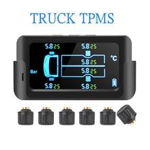 Sistema de supervisión de presión de neumáticos, pantalla LCD a Color con 6 sensores externos