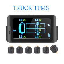 Lkw Bus RV TPMS Solar Power Tire Pressure Monitoring System Farbe LCD Display mit 6 Externe Sensoren