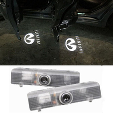 2PCS For Infiniti QX60 2014 Car Door Led Welcome Laser Projector Logo Ghost Shadow Light welcome light