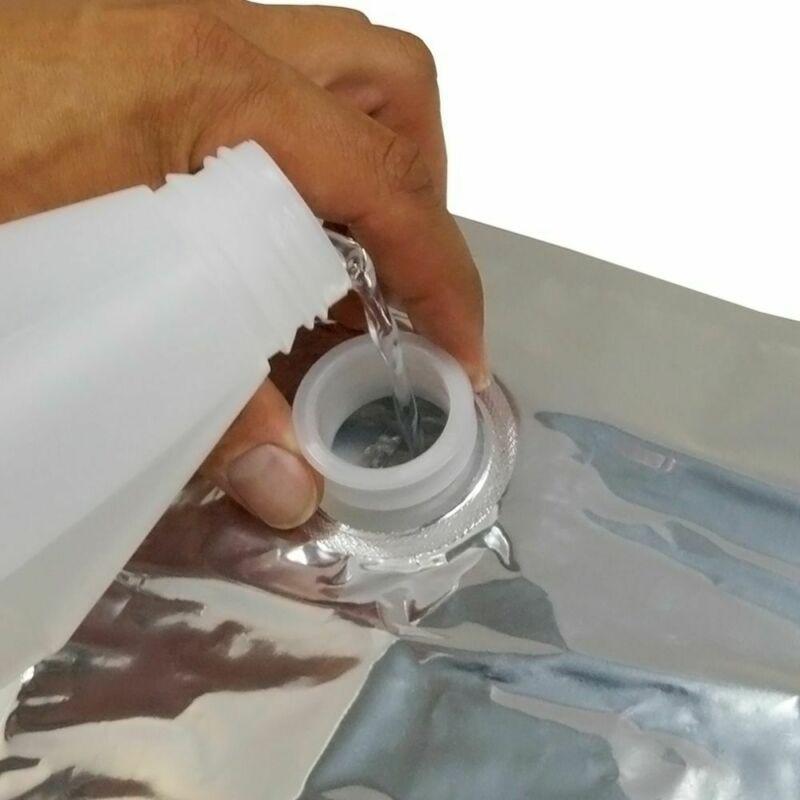 10x Set Aluminum Foil BIB Bag In Box W/ Butterfly Tap Food Beer Wine Storage 3L