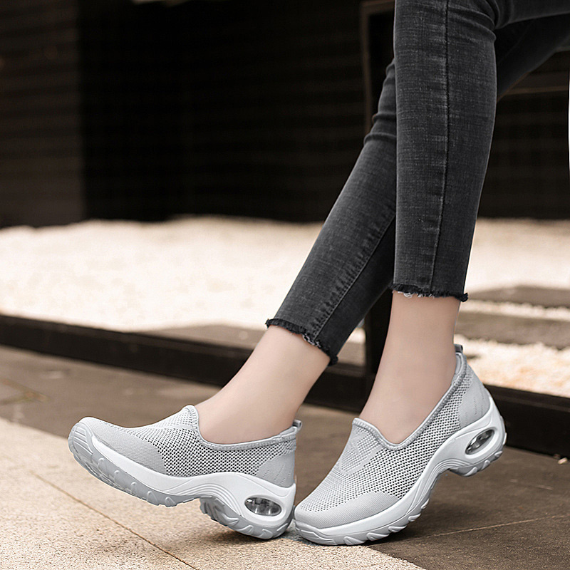 MCCKLE Women Autumn Mesh Sneakers Ladies Slip On Knitting Walking Shoes Female Casual Comfortable Woman Loafers Flat Shoes 2020 3