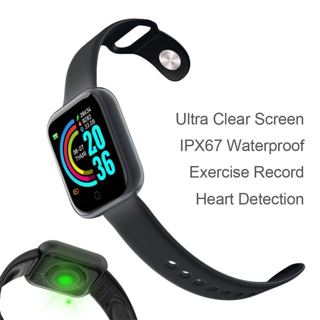 อัพเกรดใหม่ Y68กีฬา Smart Watch สร้อยข้อมือสมาร์ทความดันโลหิต Heart Rate Monitor สำหรับ Android IOS ผ่านมาตรฐานการจัดส่ง