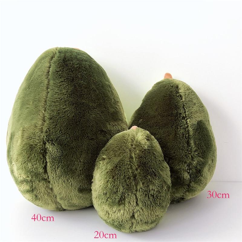 20-40cm cute beautiful avocado fruit plush plant toy cartoon plush doll boy girl anti-stress pad pillow gift 083