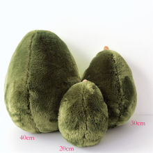 20-40cm cute beautiful avocado fruit plush plant toy cartoon doll boy girl anti-stress pad pillow gift 083