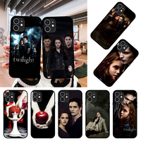 Caja del teléfono para Apple IPhone 12 Mini 11 Pro XR X MAX SE XS 4 5 SE 6 6S 7 7 8 E Plus negro cubierta de estuche de silicona de Coque película crepúsculo