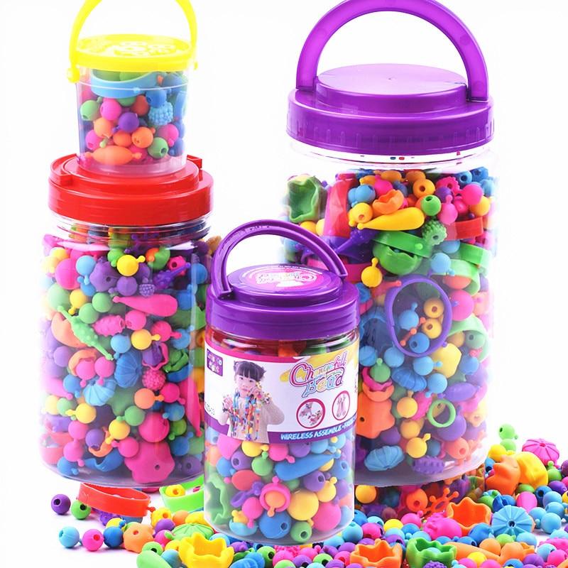 Yiwu Creative Popper Beads Cordless Beaded Bracelet Handmade DIY Environmentally Friendly Non-toxic CHILDREN'S Toy Gift Educatio