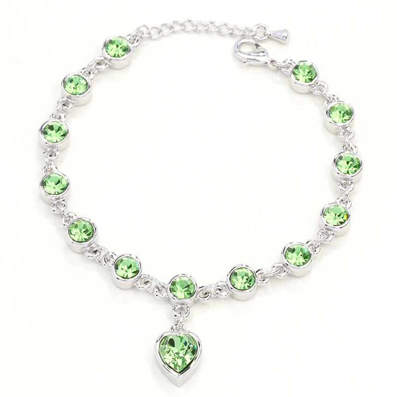 Women 39 s bracelet amber Armband citrine amethyst bracelet Vintage crystal bracelet heart Healthy bracelet SZ07 in Bracelets amp Bangles from Jewelry amp Accessories