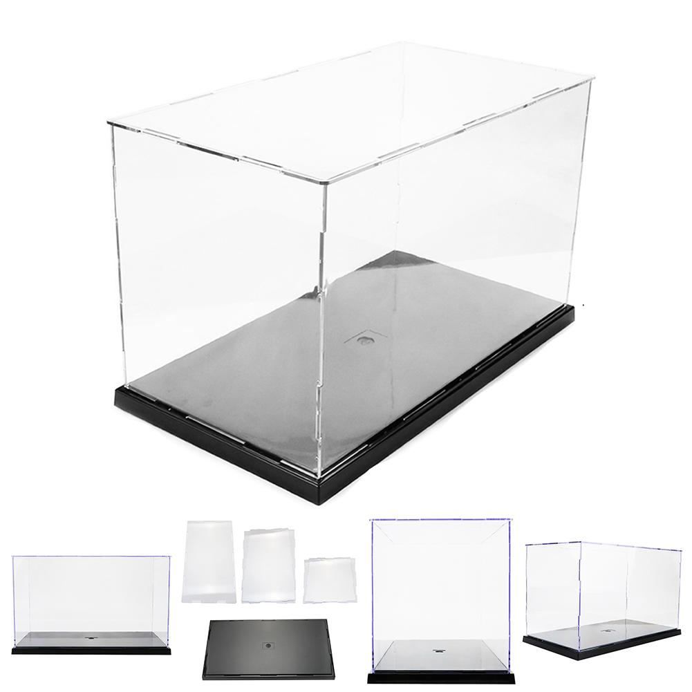 31x17x19cm DIY Assembly Transparent Acrylic Display Case Car Boat Toy Dustproof Storage Show Box For Action Figures Doll Mode