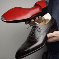 2021 New Men Shoes Fashion Trend Solid Color PU Classic Hollow Carved Lace Comfortable Business Casual Oxford Shoes KS051 1