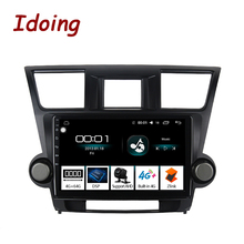"Idoing 10.2"" 4G+64G Car Radio Multimedia Android Player Navigation GPS For Toyota Highlander 2 XU40 2007 2014 NO 2 din DVD"