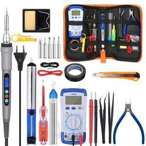 Multimeter Soldering-Tips-Tool Electric Temperature 110V/220V with 5pcs 60W/90W