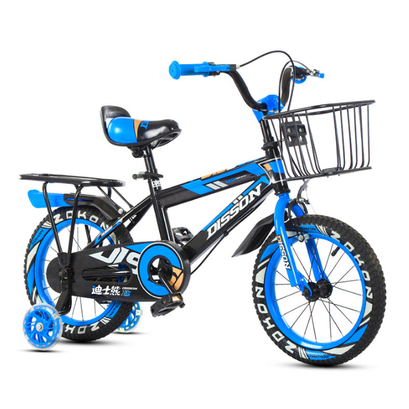 Children's Bicycle 12 14 16 18 Inch Two Wheel Bike 2-9 Years Old Boy Girl Ride Kids Bicycle With Pedal Basket And Rear Shelf