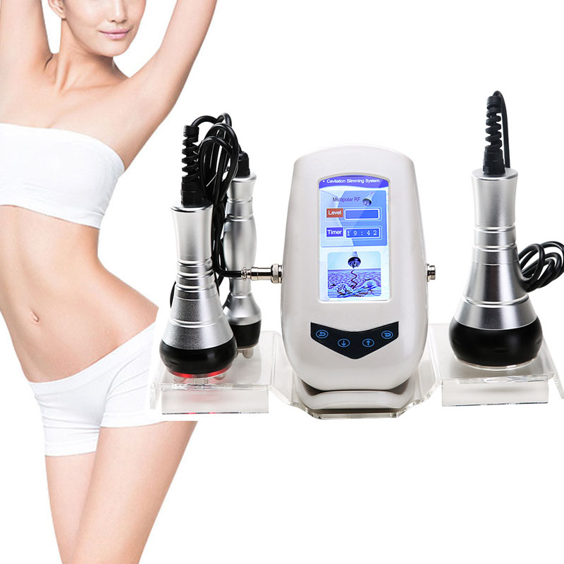 40K Cavitation Ultrasonic Body Slimming RF Radio Frequency Multipolar Vacuum Facial Rejuvenation Weight Loss Machine Home Use