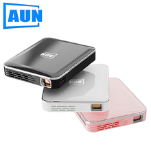 AUN MINI Projector X3, Built in Multimedia system Video Beamer, Support Mobile Phone Screen Mirroring, 3D Projector for 1080P vivicine smart pico projector p09 android 6 0 bluetooth built in 4000mah battery smart miracast airplay mobile proyector beamer