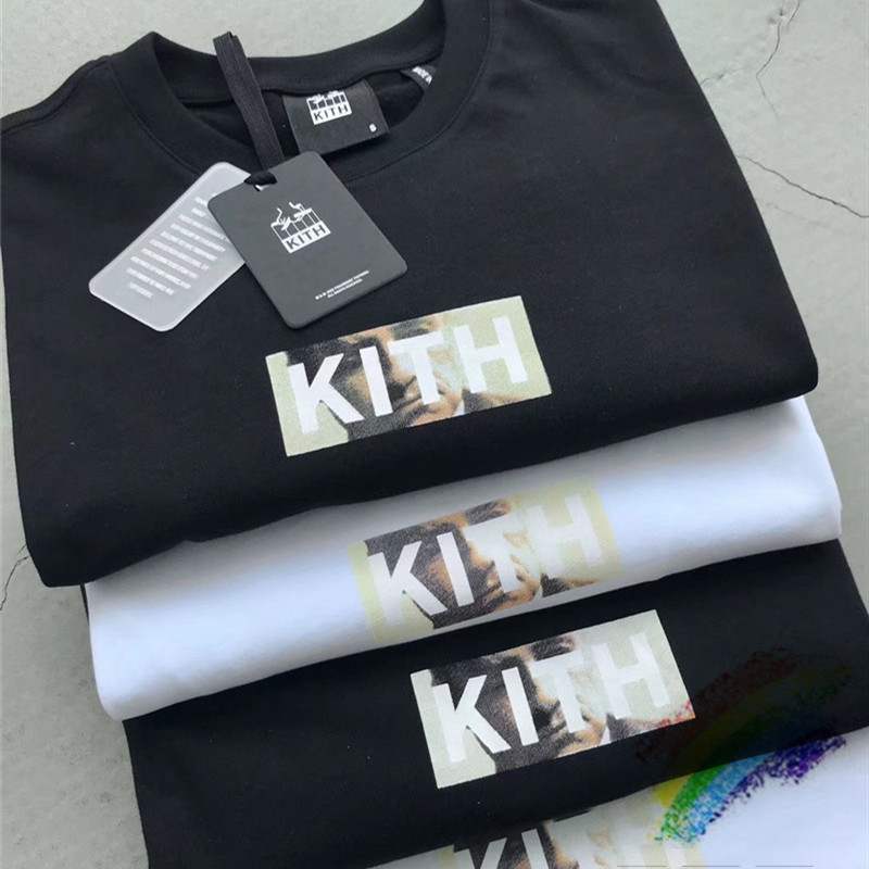 New KITH Godfather T Shirt Men Women 1:1 High Quality Top Tees Hip-Hop Skateboard KITH T-shirt