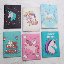 22 Different Cartoon Unicorn Passport Cover PU Leather Unisex Credit Card Holder Fashion Animal Prints Passport Holder Unicorn