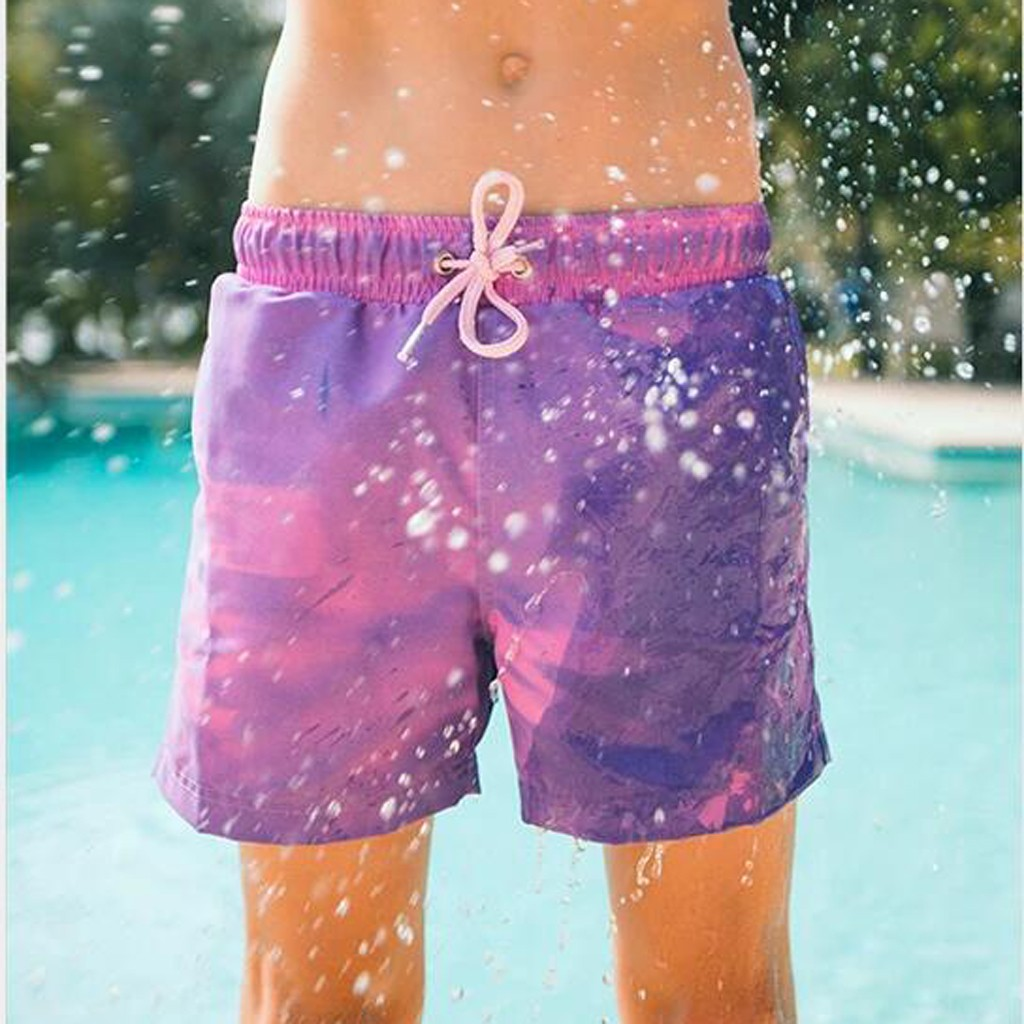 UAJAR Pink Ribbon Retro Flag Mens 3D Printed Board Shorts Cool Beach Swim Shorts Swim Trunk