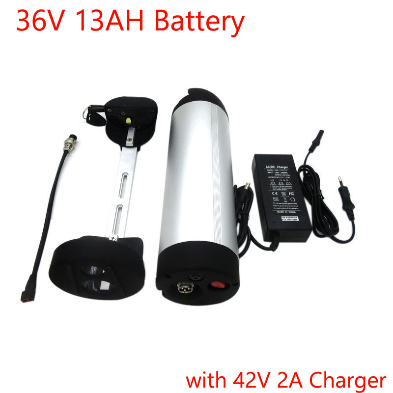 <font><b>36V</b></font> 500W Water bottle battery <font><b>36V</b></font> 13Ah Electric Bike Lithium Li ion Battery with aluminum case With 15A BMS 42V <font><b>2A</b></font> <font><b>Charger</b></font> image