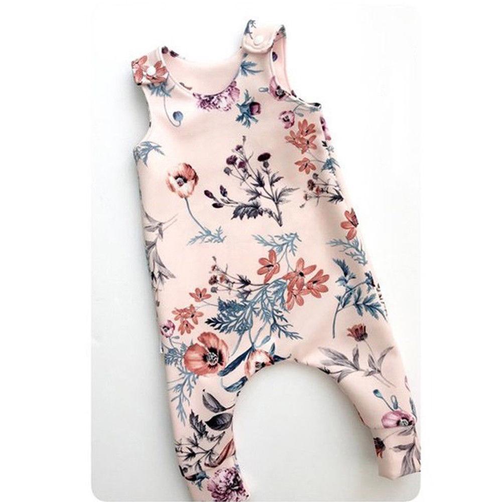 2019 reino unido infantil do bebê menina floral bodysuit macacão roupas conjunto 1 pçs bodysuit macacão 0-24 m bebê