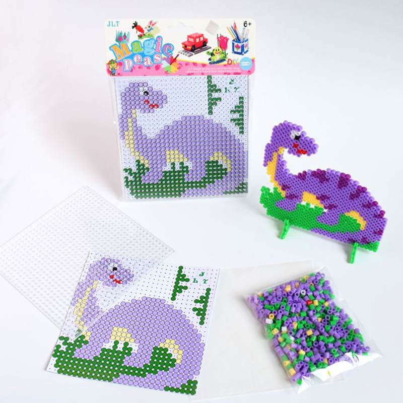 Fuse Beads Fashion Dinosaur Design Diy Creative Toys For Kids Educational 5mm Hama Beads Kit Puzzles Aliexpress