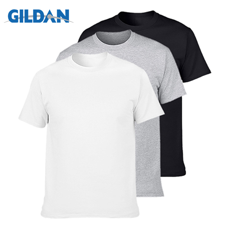 3Pcs/lot GILDAN T Shirt Men Summer Short Sleeve O Neck Mens T-shirt 100% Cotton T Shirt Tops Mens Brand Tshirt Plus Size XS-3XL