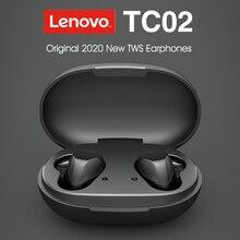Lenovo TC02 True Wireless Bluetooth 5.0 Earphone Waterproof in ear Sports Music Earplugs for Huawei Xiaomi IOS Android