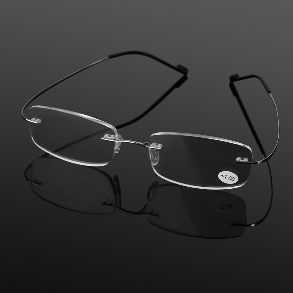 Presbiyopik gözlük esnek Ultralight çerçevesiz bellek titanyum manyetik okuma gözlüğü erkekler kadınlar için vizyon bakım + 1.0 ~ 4.0