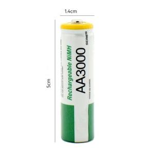 Image 2 - 2 個 new1.2v 単三 3000 mah のバッテリーニッケル水素単三電池監視、マウス、玩具など品質安全バッテリー