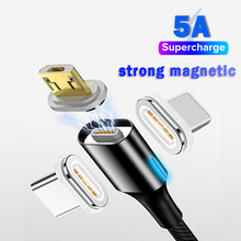 Światło Led 5A magnetyczny Kabel Usb do ładowania Kabel Micro Usb do Xiaomi A3 A2 Huawei P30 Mate 20 Pro Kabel Usb Usb Kabel Usb typu c