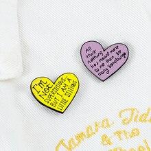 Милые булавки в форме сердца, Мультяшные креативные металлические броши для девочек, эмалированные Значки для джинсовых курток с лацканами...