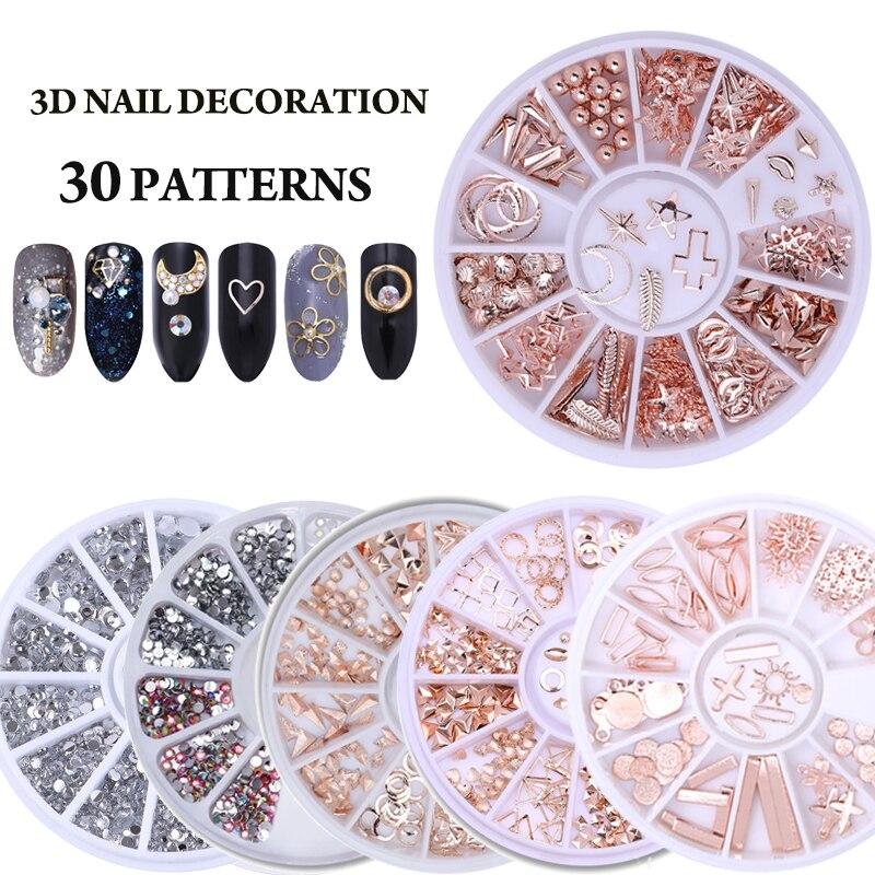 Смешанный Цвет декоративный камень для ногтей Стразы с покрытием