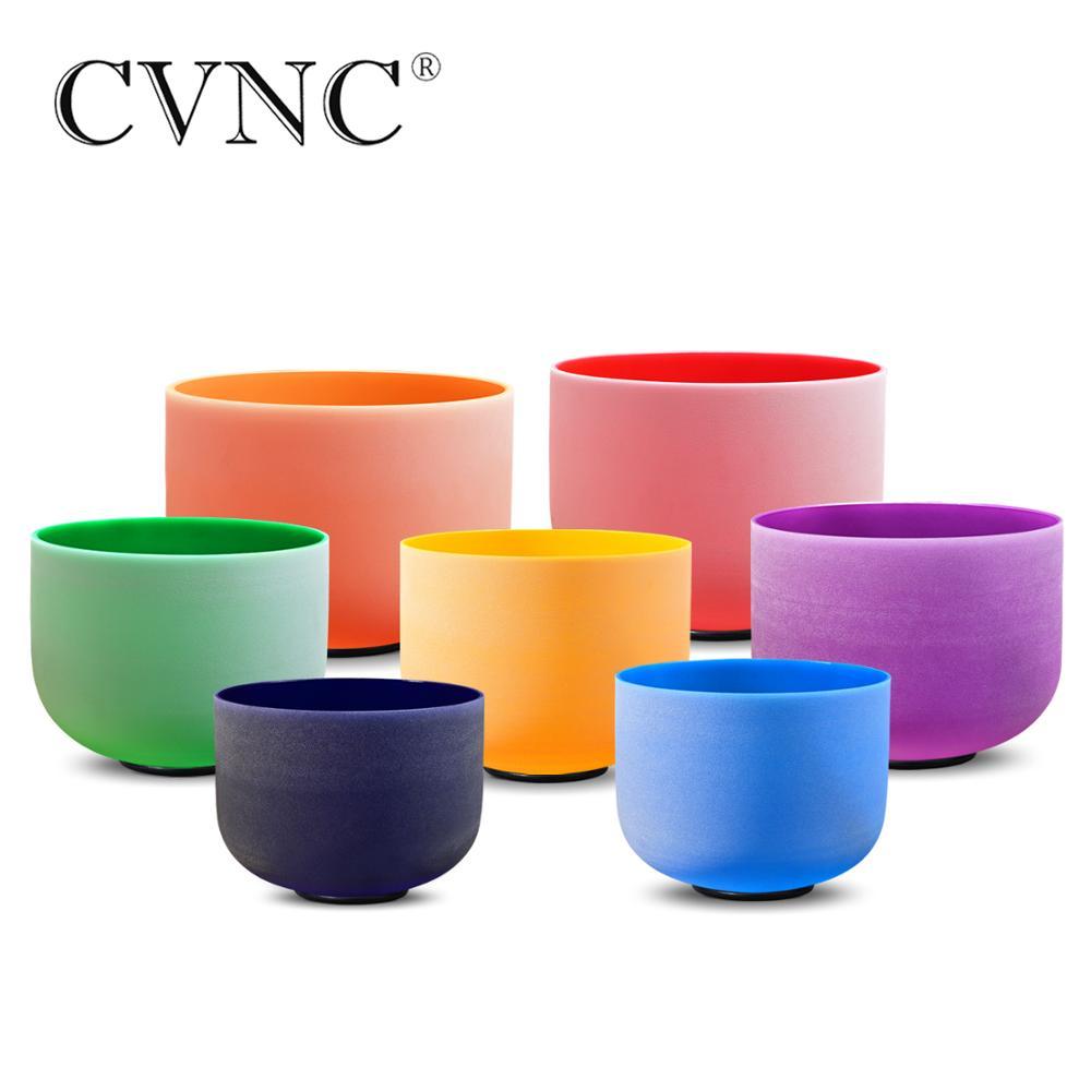 CVNC 440Hz Or 432Hz 12 Inch Third Eye Crown Root Navel Solar Heart Throat Chakra Quartz Crystal Singing Bowl