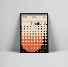 Affiche d'exposition d'art Bauhaus, impression d'exposition Bauhaus, affiche Herbert Bayer, impression Bauhaus, Walter gropius,