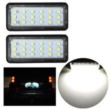 2pcs Error Free LED Car Number License Plate Light For Toyota Land Cruiser 120 Land Cruiser 200 Prad