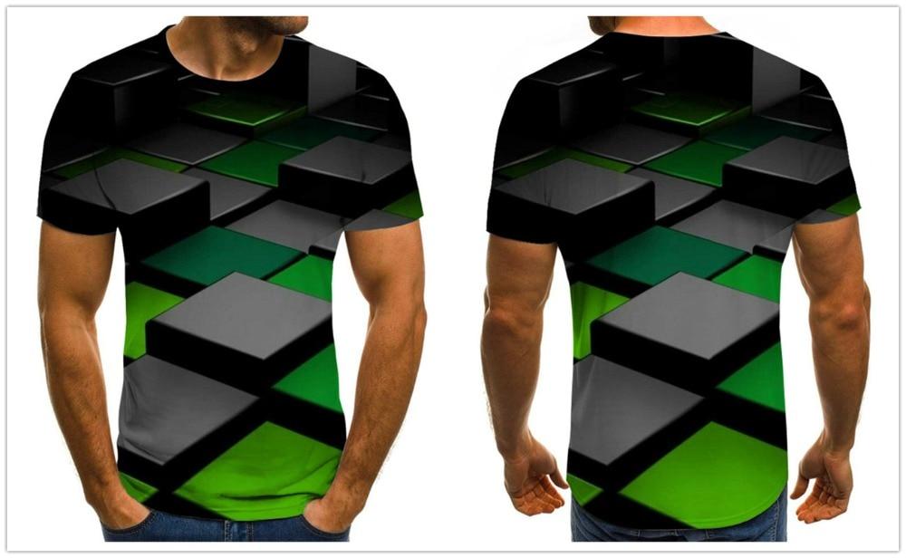 2020 New Three-dimensional vortex T-shirts Men's Summer 3D Print  Casual 3D T Shirt Tops Tee XXS-6XL