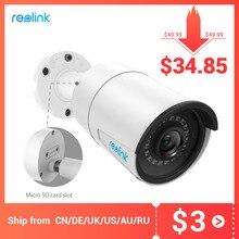Reolink cámara ip para exteriores 5MP PoE, impermeable, visión nocturna infrarroja, ranura para tarjeta SD, Onvif bullet home, RLC 410 de videovigilancia