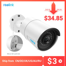 Reolink outdoor ip camera 5MP PoE waterproof Infrared night vision SD card slot Onvif bullet home video surveillance RLC 410