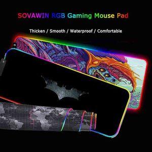 Image 1 - Tapis de souris de jeu LED grand tapis de souris de joueur rvb 11Usb éclairage de LED