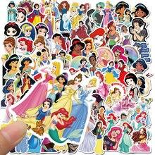 50 pçs disney princesa adesivos congelados mickey brinquedo história winnie o pooh à prova dwaterproof água skate portátil dos desenhos animados stikers crianças brinquedo