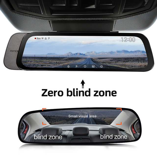 Автомобильный видеорегистратор 70mai, широкий экран 9,35 дюйма, 1080P, угол обзора градусов 4