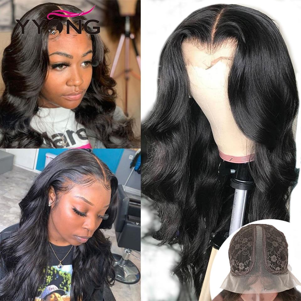 YYong 28inch 1x6 Topline Lace Wig  Body Wave T Part Lace  Wigs HD Transparent  Lace Wig Middle Part 1