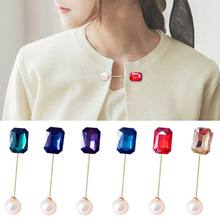 5 Pcs/set Double-Headed Mutiara Buatan Kata Bros Cardigan Syal Selendang Panjang Pin Wanita Wanita Kemeja Gesper(China)