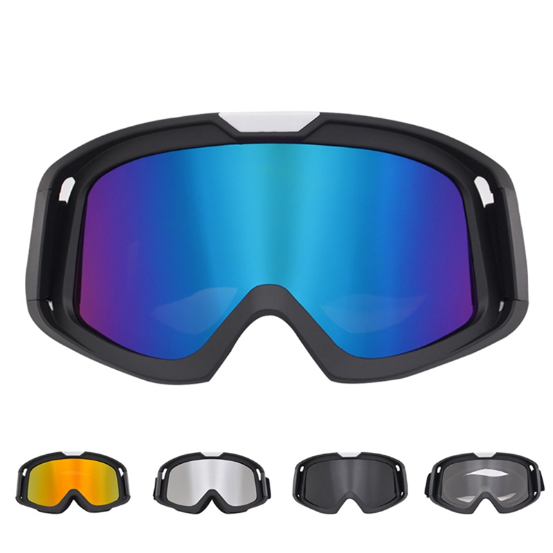Cycling Goggles UV400 Windproof Adjustable Breathable Outdoor Protective Sports Motorcycle Riding Helmet Glasses Eyewear