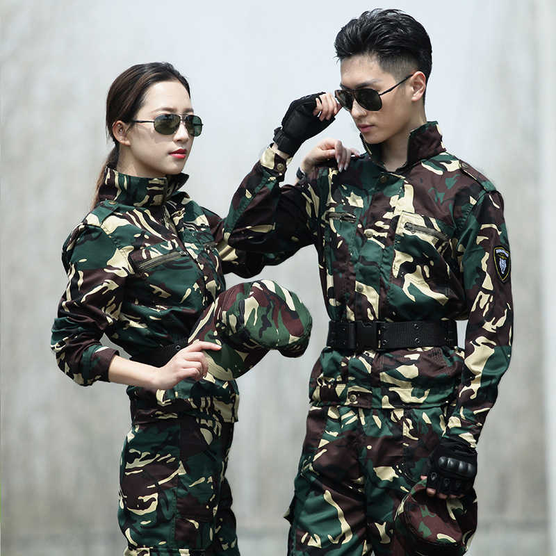 Hunter Camouflage Ghillie Suit Women Military Uniform Tactical Combat Hunting Jacket Cargo PantsFishing Work Clothes Men