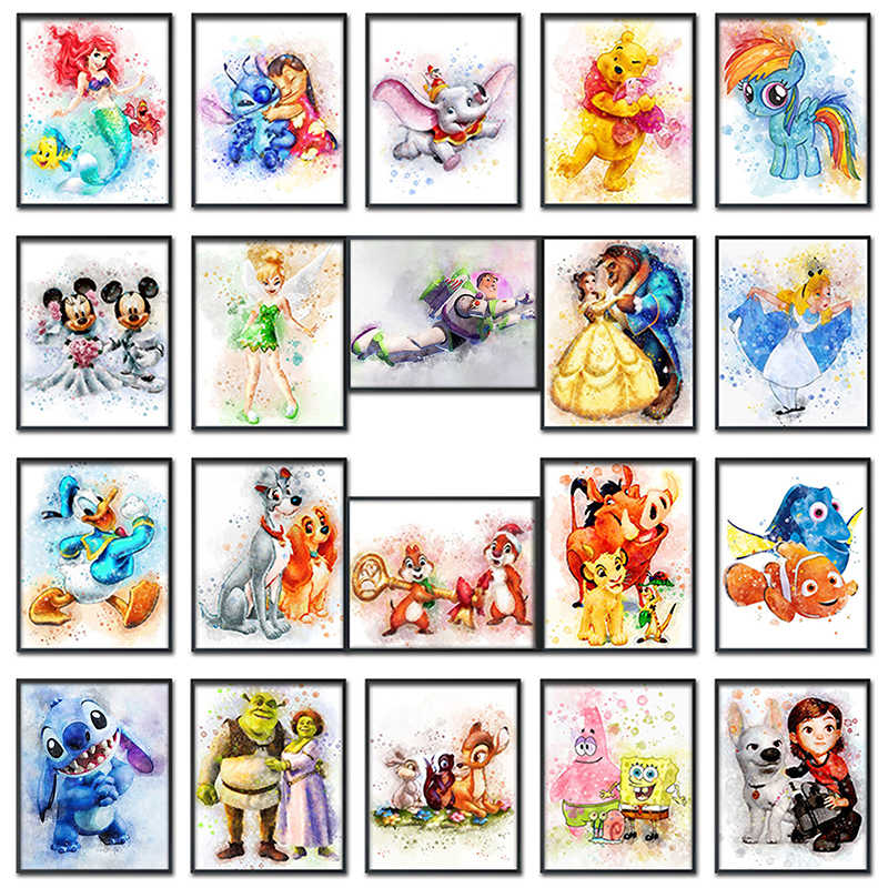 5D Diamond painting Cartoon Mickey Mouse dog Full Round Diamond mosaic Full Square Diamond embroidery Cross stitch Winnie Pooh #